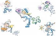 Girl Sniffing Flower...