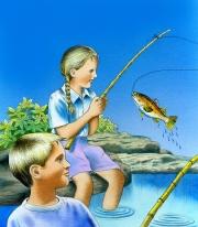 Annika  &  Karl Fishing, An Enchanted Afternoon
