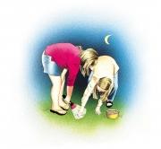 Girls Looking for Worms, Hook Line  &  Sinker