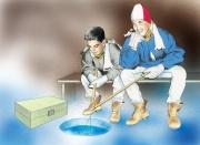 Ice Fishing, Hook Line  &  Sinker