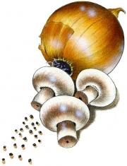 Onion, Mushrooms, Club House Ad, Enterprise Creative Selling