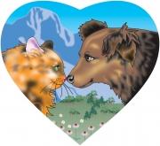 Cat & Dog Logo for Gobbles Organic Pet Food