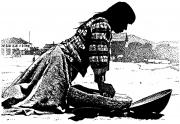 Indian Woman Pounding Corn
